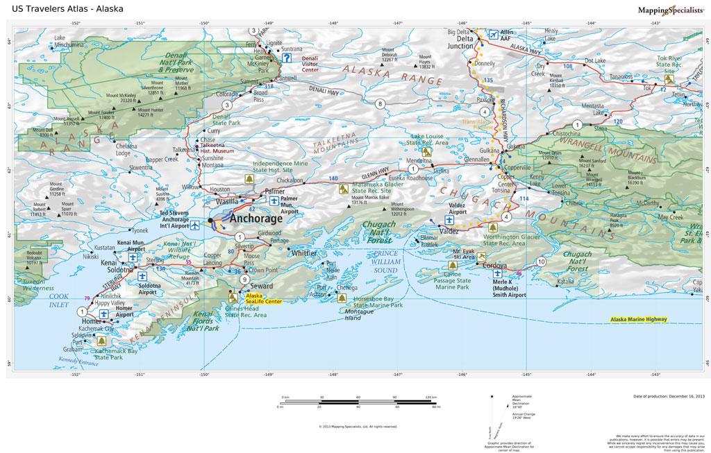 US Travelers Atlas - Alaska