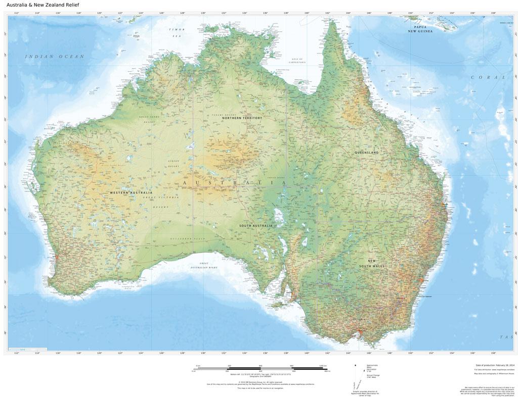 Regional Relief - Australia & New Zealand