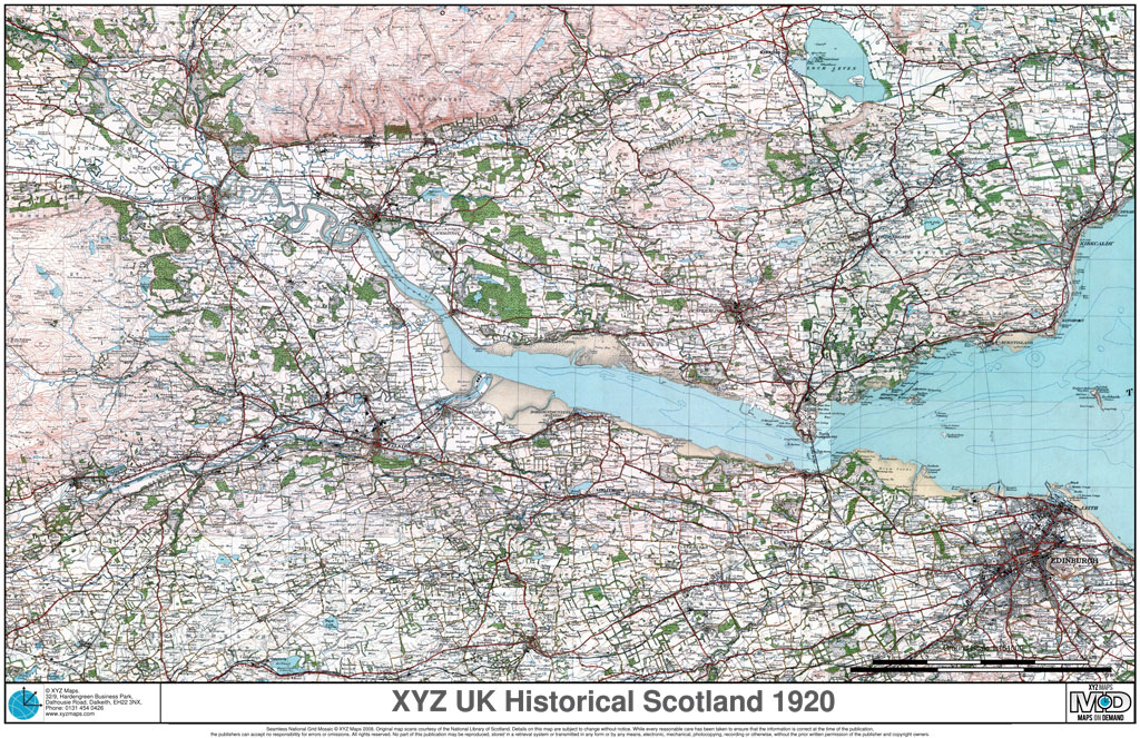 1920s Historical Scotland Ordnace Survey Mapping