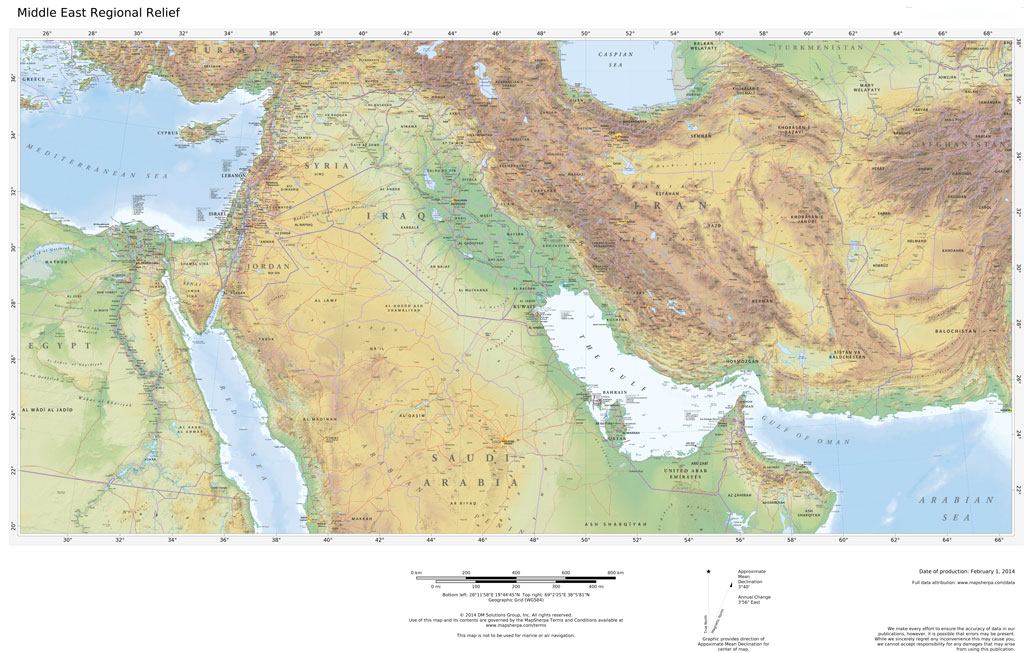 Regional Relief - Middle East