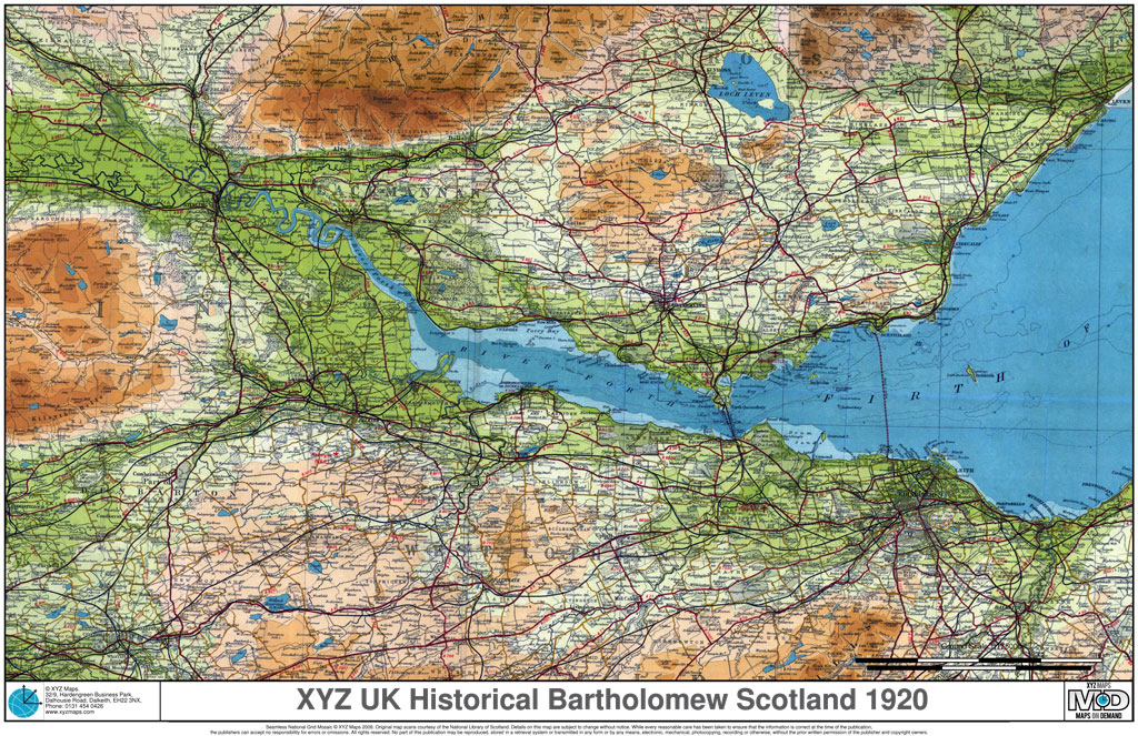 1920s Historical Scotland Bartholomew Mapping